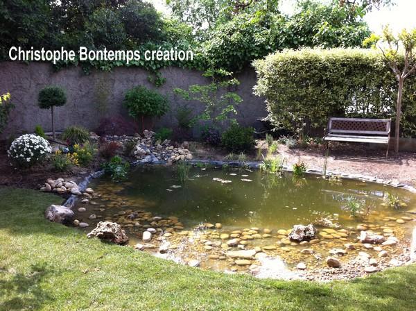 Création bassin et plantations