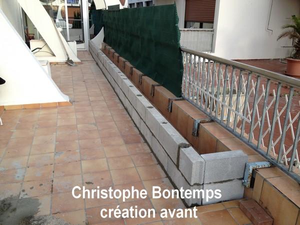Création terrasse bois et jardinière La Gande Motte