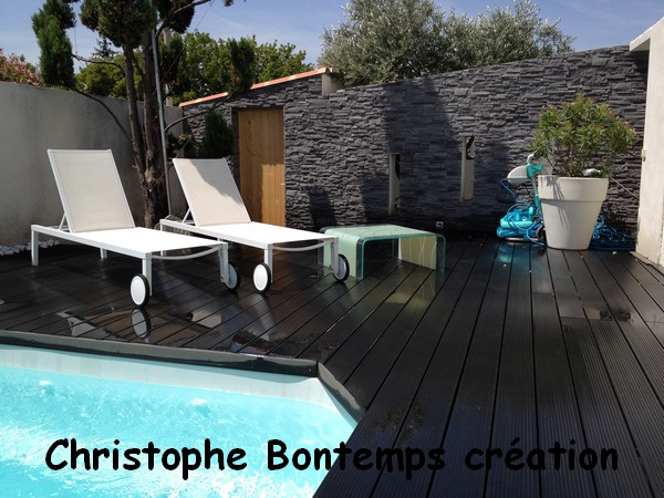 Pose de parements et terrasse composite lattes