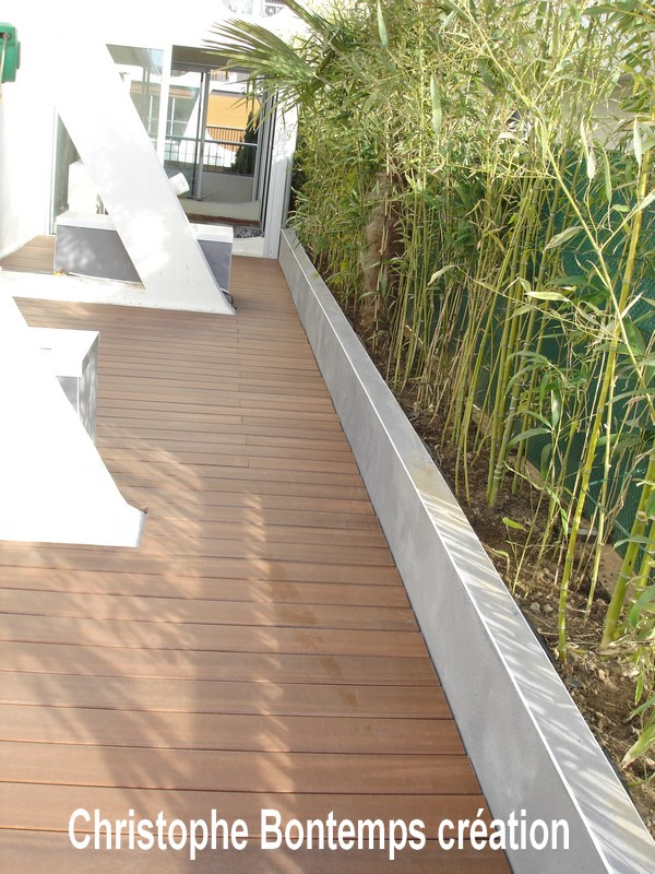 Terrasse composite et jardinière La Grande Motte